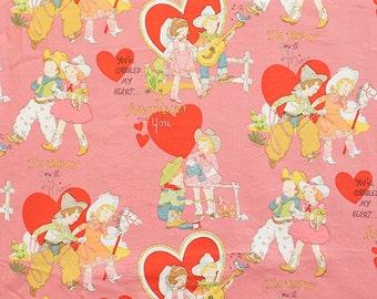 Valentine Children Retro Pink Alexander Henry Fabric 1 yard