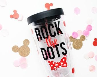 Rock the Dots /// Double Wall Acrylic Tumbler 16oz