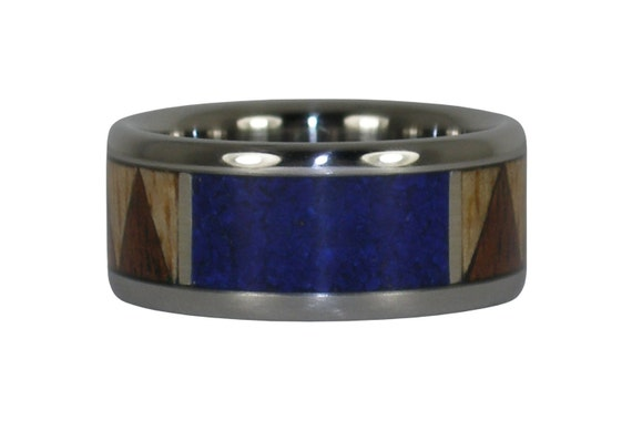 Tribal Ring with Lapis and Hawaiian Wood