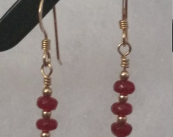 E1078 Garnet Earrings (January's Birthstone)