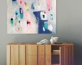 Abstract painting, large abstract painting, contemporary art, acrylic painting, large wall art, canvas painting 36 x 28 in