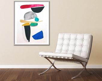Abstract painting, acrylic painting, modern art, original acrylic, large abstract painting, geometric, wall art, wall decor, home decor