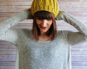 The Phoebe + Ribbed Pom Knit Hat + Made to Order