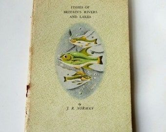 Vintage 1943 King Penguin Book - Fishes of Britain's Rivers and Lakes - Illustrated Vintage Book