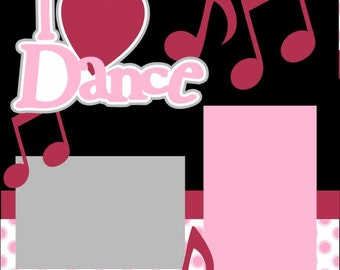 Love to Dance 2-page 12X12 Scrapbook Page Kit or Premade Layout