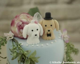 shih tzu and maltese cake topper---k854