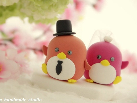 Penguins with sweet heart (K420)
