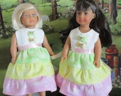3 Tier Summer dress made to fit Mini AG dolls and similar