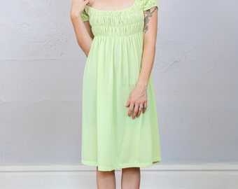 SALE - 60s Lime Night Gown Dress