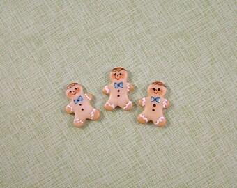 Gingerbread men Embellishment set of 3