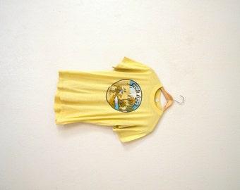 """80's """"Saudi Arabia"""" Yellow Graphic T-Shirt"""