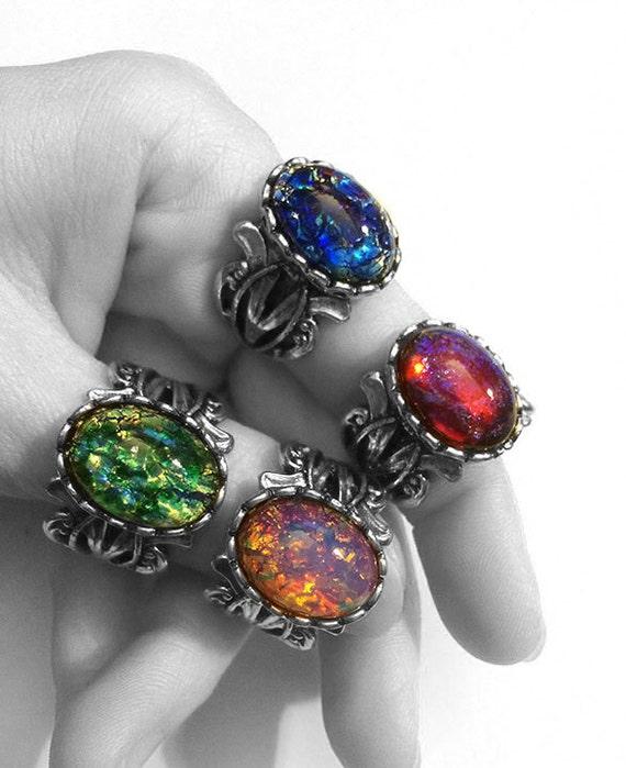 Items Similar To Opal Ring Exquisite Braided Opal: Items Similar To Fire Opal Ring