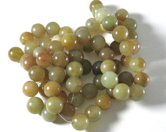 Serpentine Soo Chow Jade - 12mm Rounds - 25 Beads per Strand