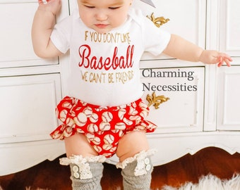 Baby Girl Clothes, Baseball Sister, Baseball Fan, Baby Shower, Toddler Girl Clothes, Glitter Top  Diaper Cover in If You Don't Like Baseball