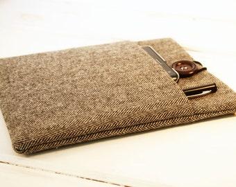 "13"" Macbook Case|11"" Macbook Sleeve|Macbook Air Case|Macbook Pro Retina Case|Laptop Bag|iPad Pro Case|Mens Unisex Case in Herringbone"