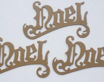 """NOEL Script Word - Bare Christmas Chipboard  Die Cuts - 3 1/4"""" x 4 1/2"""""""