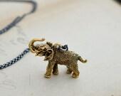 Elephant Necklace, Elephant Jewelry, Charm Necklace, Elephant Pendant, Long Necklace, Sterling Silver, Layering Necklace, PoleStar