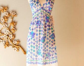 Vintage 1960s Emilio Pucci for Formfit Rogers Slip Dress | Vintage 60s Pucci Print Mini Dress Slip