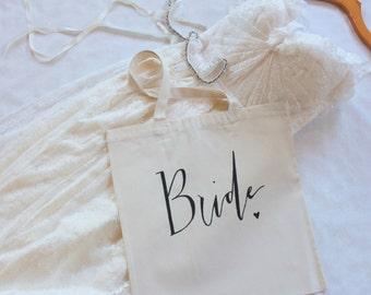 Bride Tote Bag Wedding Bridal Wedding Party Bachelorette Gift Accessory