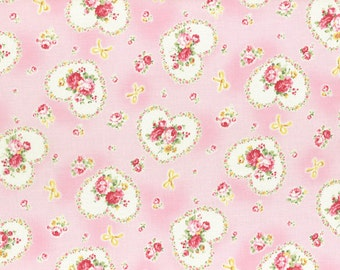 Princess Rose Fabric by Lecien - Gift Roses L31266-20 Pink