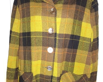 "Classic Vintage 1940's/50's Plaid Rockabilly Pendleton Jacket M/42"""
