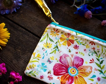 Posey Pouch - Handmade Bag - Katie Daisy Painting