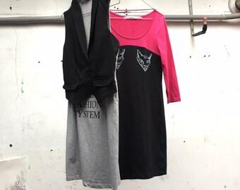 Moschino screenprinted stretch dresses set