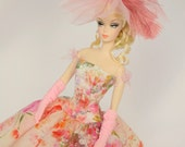Silkstone Barbie Outfit Fashion Dress Hat Gloves - 'Floating Garden'