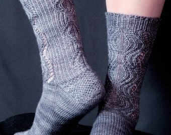 Chain of Craters Socks Knitting Pattern - PDF