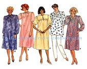109 Butterick 3599 Classic Maternity Dress Pullover Tunic Top Pants w Front Panel size 14 Bust 36 Vintage 80's Sewing Pattern Uncut