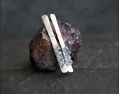 Blue Mystic Quartz Stick Post Earrings - Gemstone Wire Wrap Bar Long Oxidized Sterling Silver Metalwork Boho Jewellery