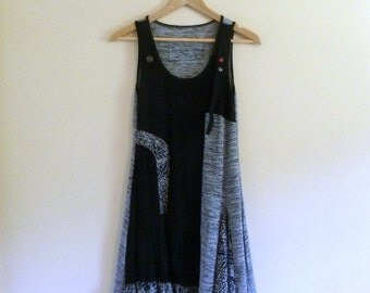 Vintage Slinky Grunge Dress with Unique Details - Size XS/S