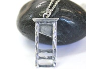 Sterling Silver Guillotine Necklace Sterling Silver French Guillotine Pendant Necklace 514