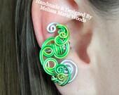 Loop-Tastic Ear Cuff - Green
