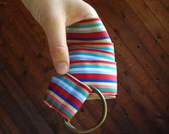 Fruit Stripe D-Ring Belt Vintage 70s - OS
