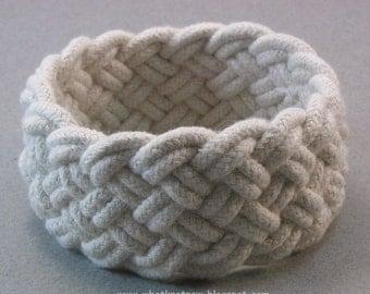 six part rope bracelet turks head knot bracelet rope jewelry white cord bracelet 3651
