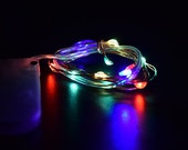 Fairy Lights 10 LED colored  miniature lights battery operated for terrarium - dollhouse - accessories