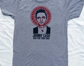 Johnny Cash Died For Your Sins Mens Triblend Tshirt