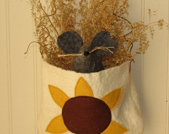 Primitive mouse pattern, Wool softie pockets, Halloween Mouse pattern, primitive pattern, HFTH174