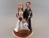 Bride & Groom Custom Made Hiking Theme Wedding Cake Topper - reserved for klkalway