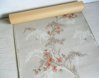 Mid Century Wallpaper Roll | Vintage Wallpaper | Leafy Floral Wallpaper | Made in USA