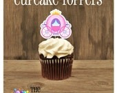 Princess Party - Set of 12 Fairytale Carriage Cupcake Toppers by The Birthday House