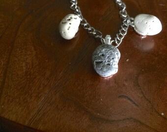 Lake Michigan Beach Stone Necklace: Three Astroids