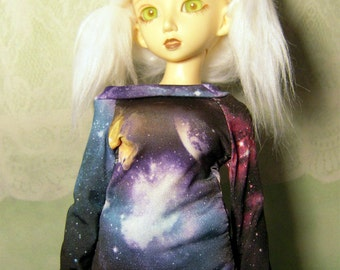 Black galaxy sweatshirt for MSD, minifee, 1/4 bjd DOLL