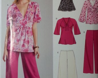 Misses Tunic and Pants Pattern Stretch Knits Newlook 6627 Misses Size 10-22 Uncut Pattern