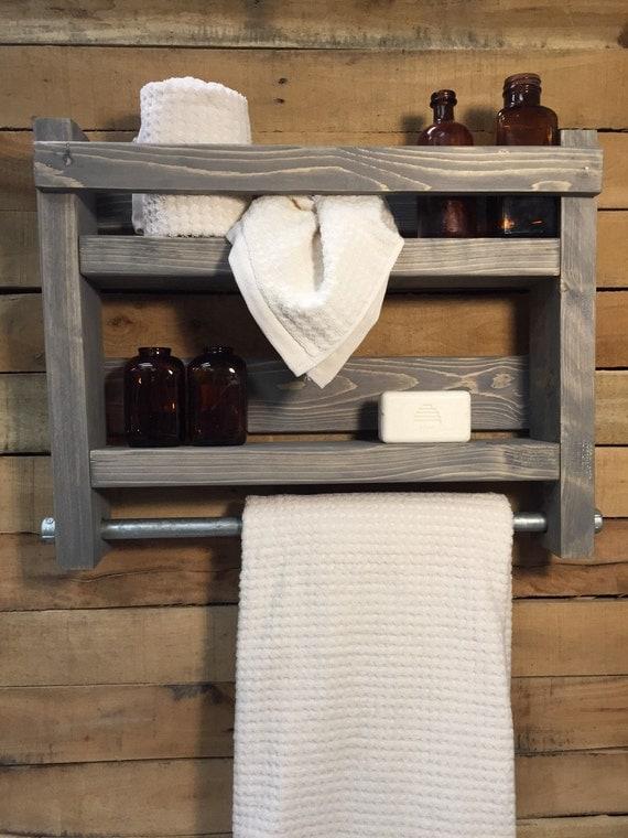 Bathroom towel rack wood towel rack bathroom shelf for Wooden towel racks for bathrooms