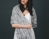 Wedding shawl | Winter Wedding | Bridal Fur Stole | Faux Fur Wrap [York Fur Shawl]