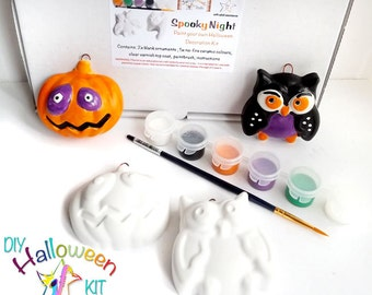 halloween craft kit paint your own halloween ornament set of two halloween decorations to