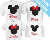 Family Mickey Minnie Vacation Shirts. Disney Family Shirt. Disney Vacation Shirt. Disney Shirt. Mickey Ears. Mickey Head.