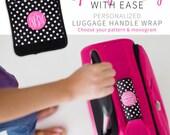 Monogram Luggage Tag- Luggage Wrap